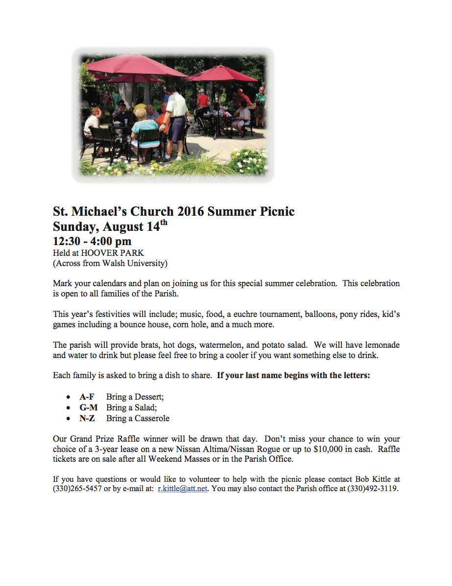 St  Michael the Archangel Catholic Church: picnic 16